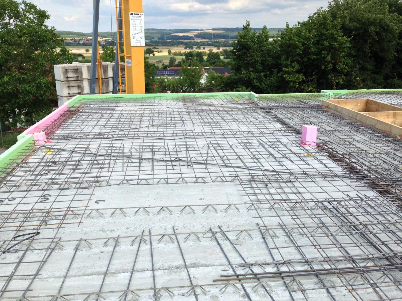 Stahlbetonarbeiten für gedämmte Bodenplatte