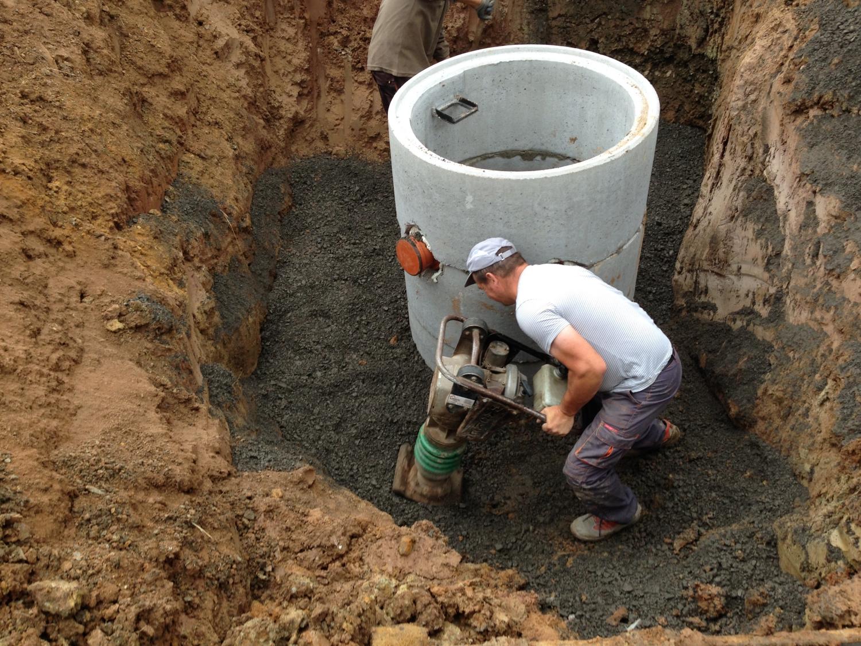 Entwässerungsarbeiten