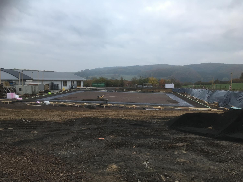 Gründung f. Produktionshalle (1600m² Bodenplatte)